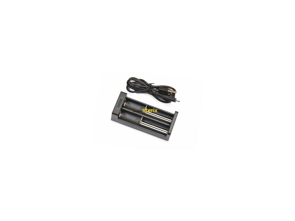 USB nabíječka XTAR MC2 dvoukanálová pro Li-Ion akumulátory