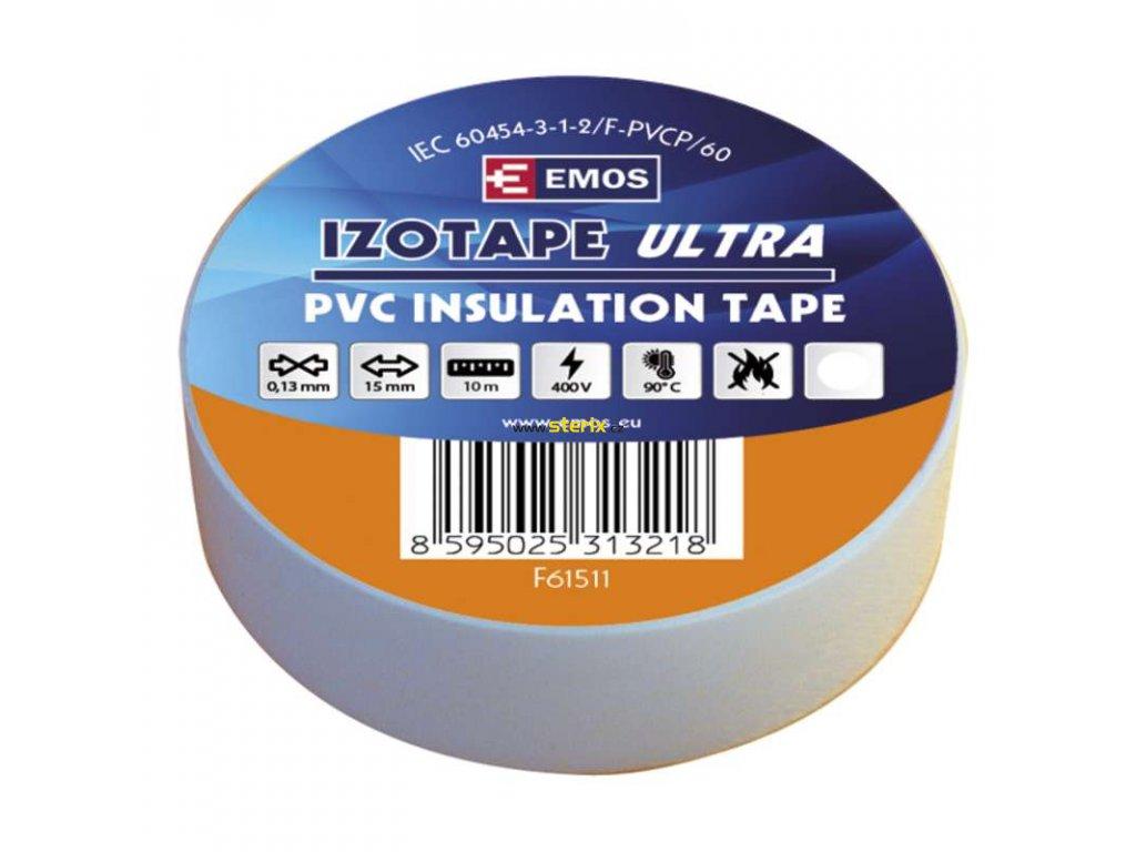 Izolační páska 15mm x 10m, bílá