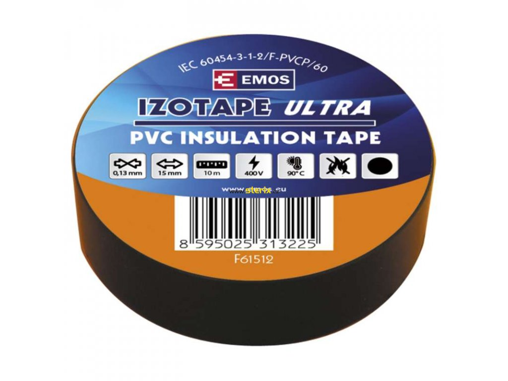 Izolační páska 15mm x 10m, černá