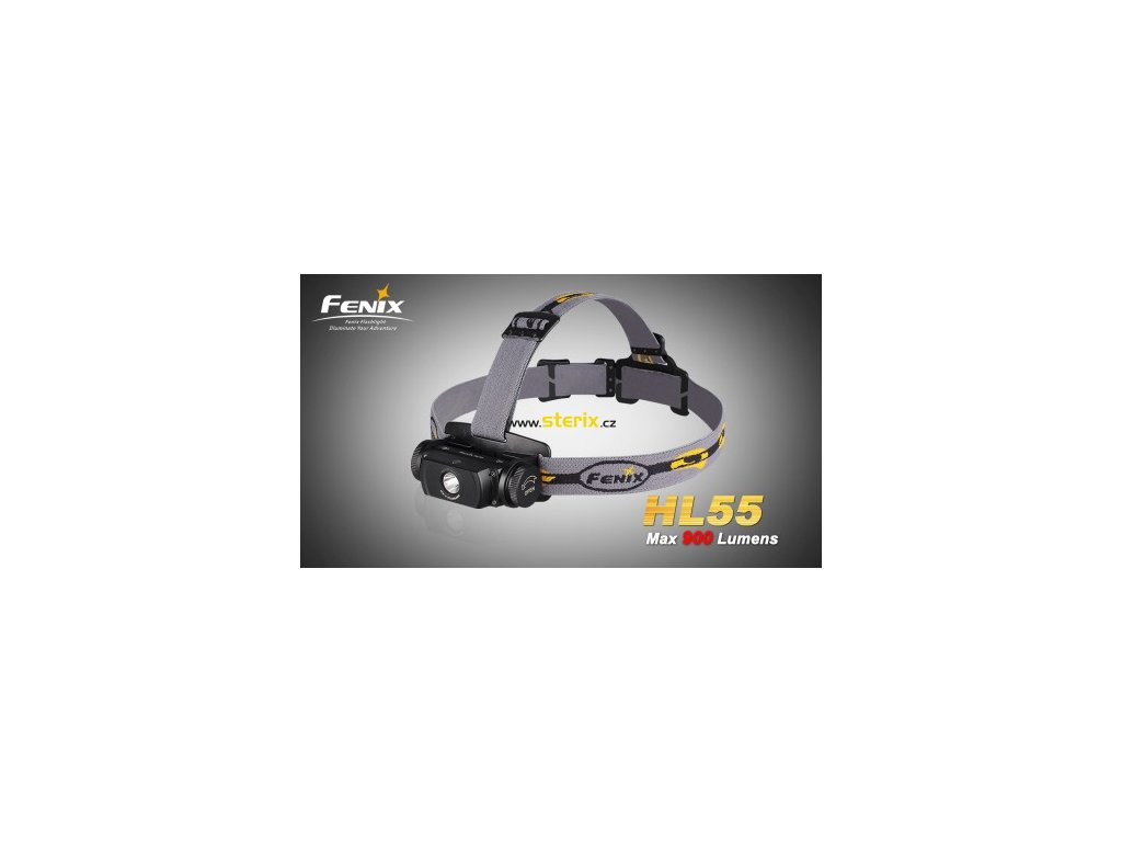 LED čelovka Fenix HL55 900Lm 2 x baterie CR123A