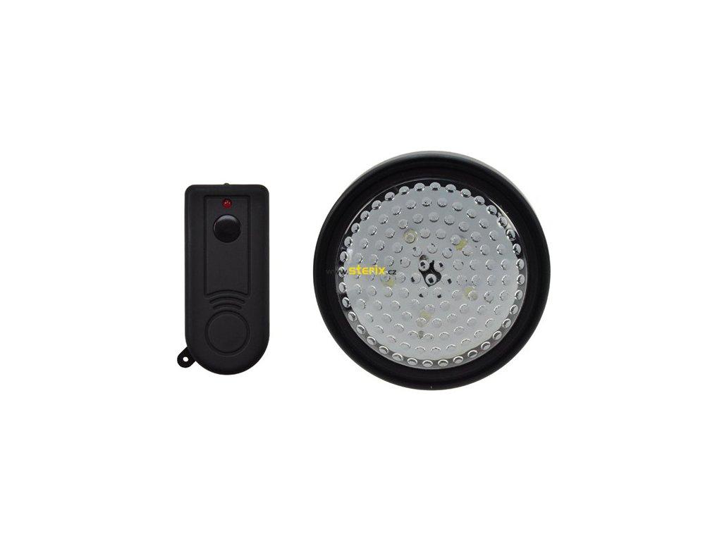 LED orientační lampička na 3 baterie AA + dálkové ovládaní černá