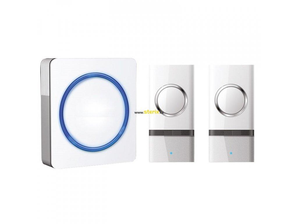 Bezdrátový zvonek 1L22 White, 2x tlačítko