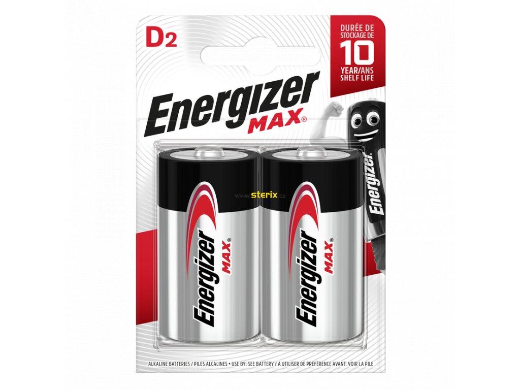 Baterie LR20/D ENERGIZER MAX 2ks (blistr)