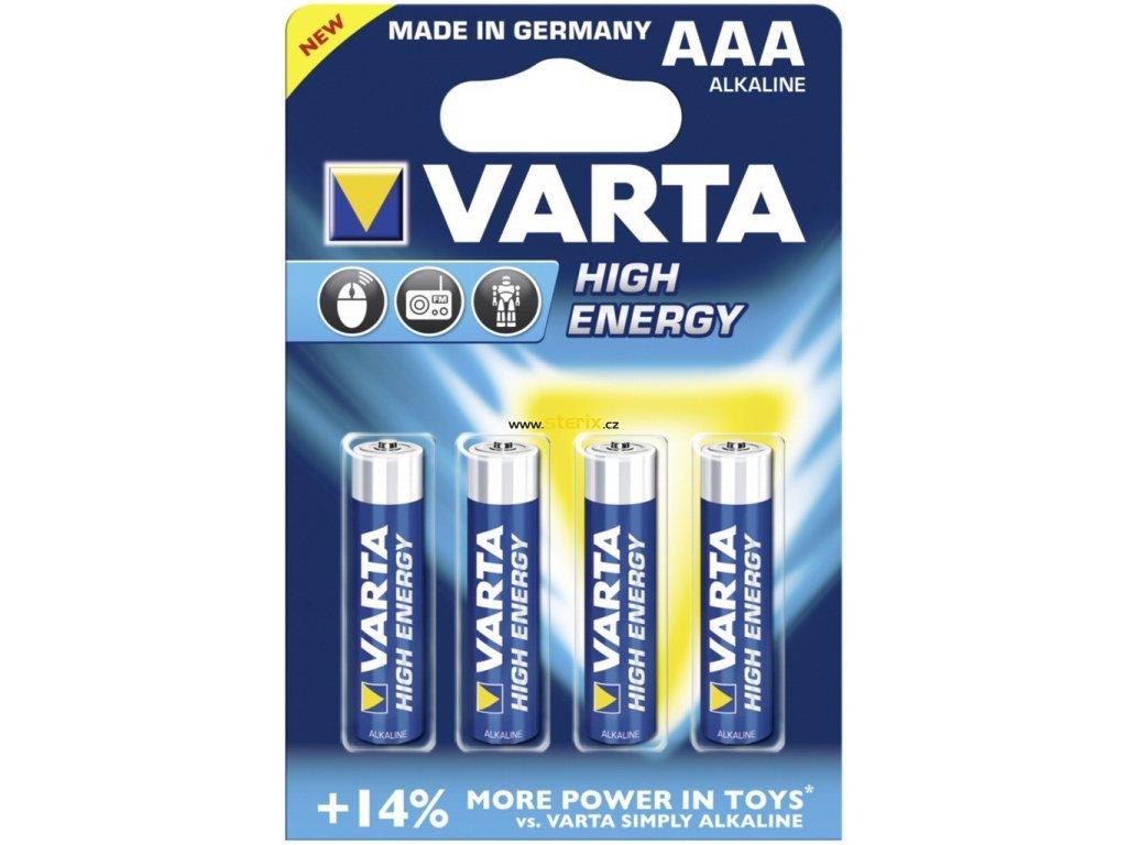 Baterie AAA/LR03 VARTA High Energy 4ks (blistr)