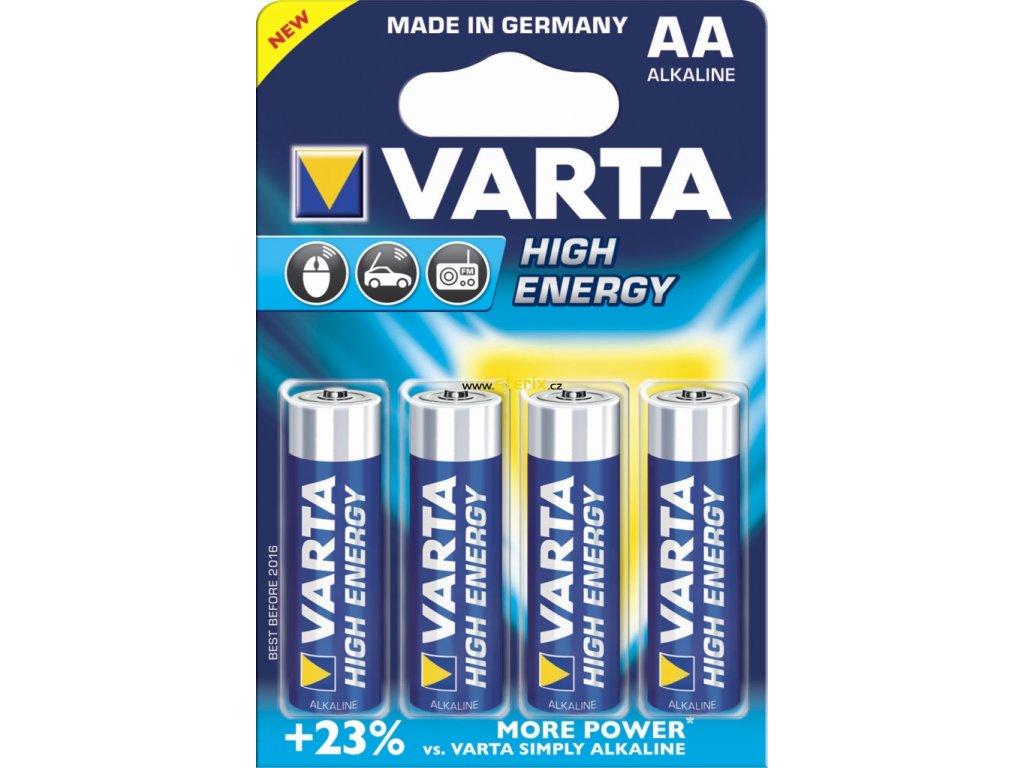 Baterie AA/LR6 VARTA High Energy 4ks (blistr)