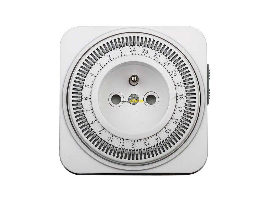 Mechanický denní časový spínač 230V/16A, bílý