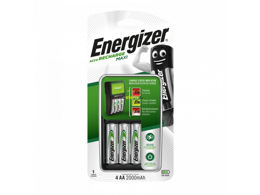 Kompaktní nabíječka baterií Energizer Maxi + 4 x baterie AA 2000mAh