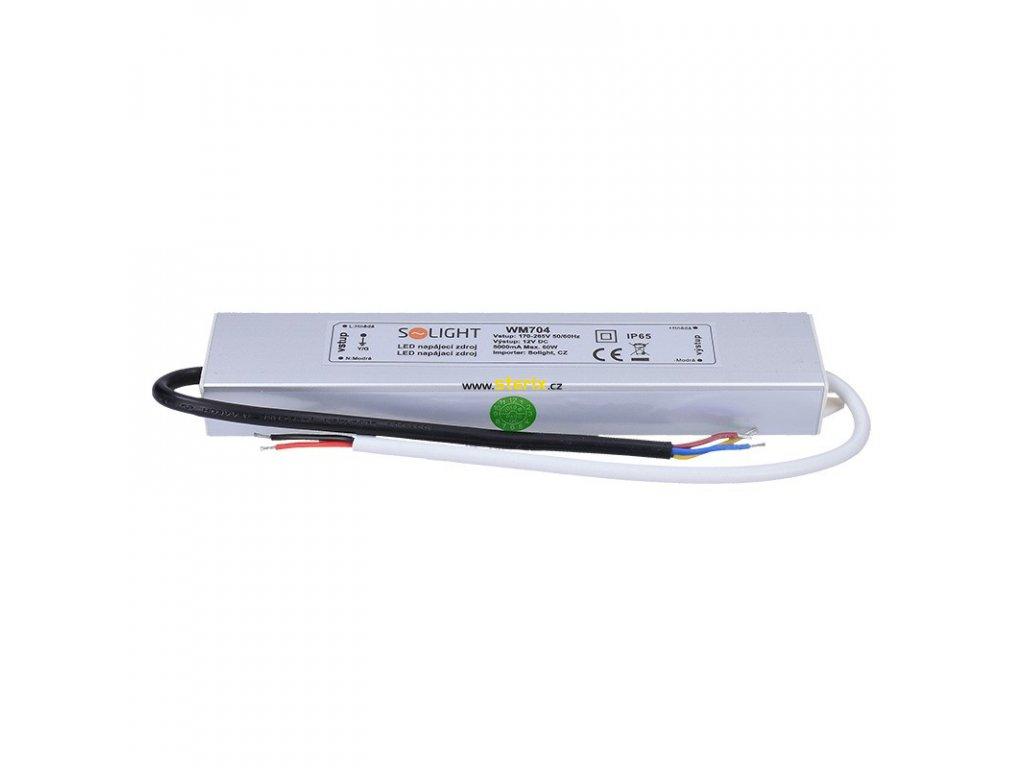 LED napájecí zdroj 230V ->12V/60W/5A/IP65
