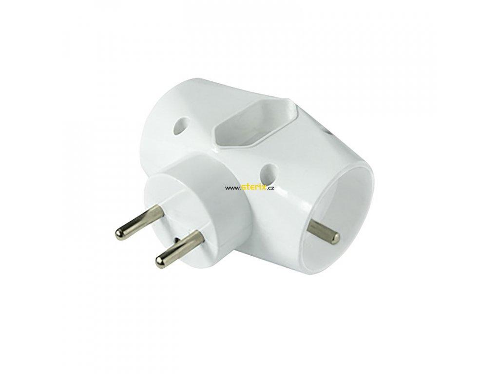 Zásuvka rozbočovací P90 IP20/230V/2x10A + 1x2,5A, bílá