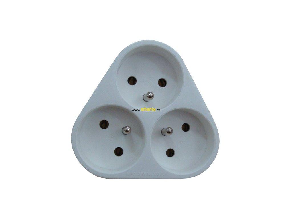 Zásuvka rozbočovací P94 3 x 230V/10A/IP20, bílá