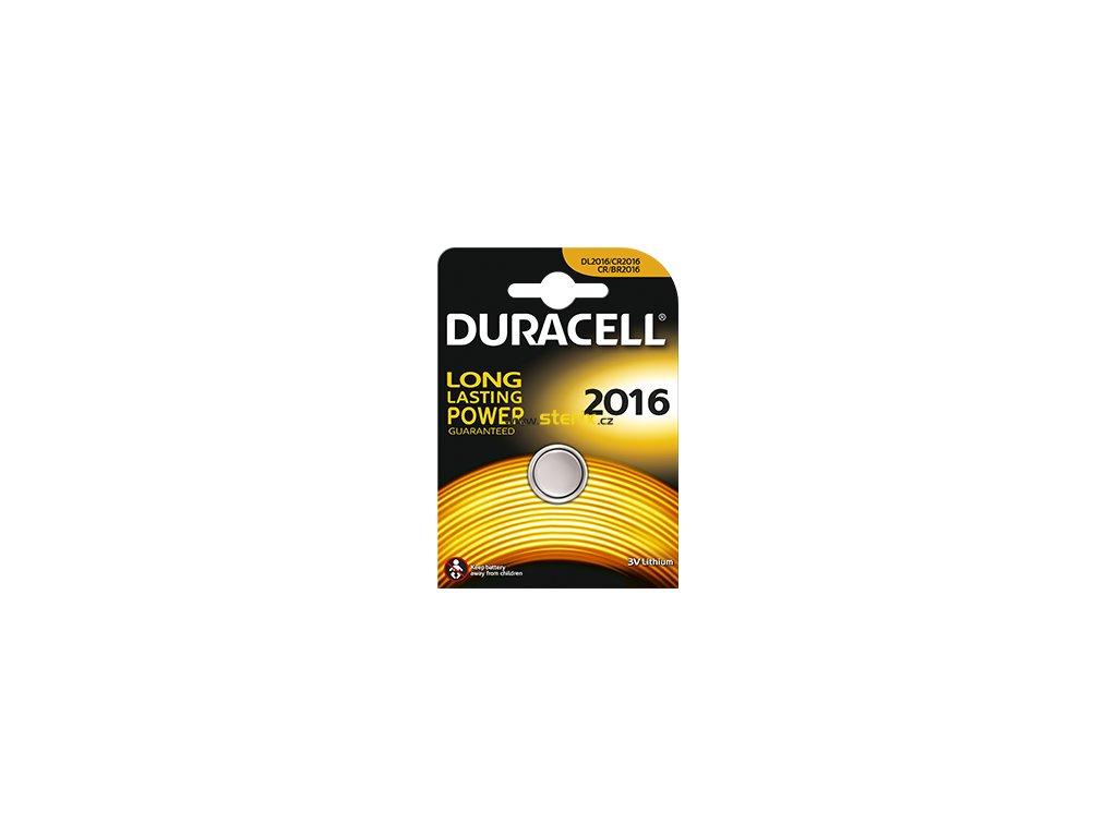 Baterie 3V CR2016 DURACELL 1ks (blistr)