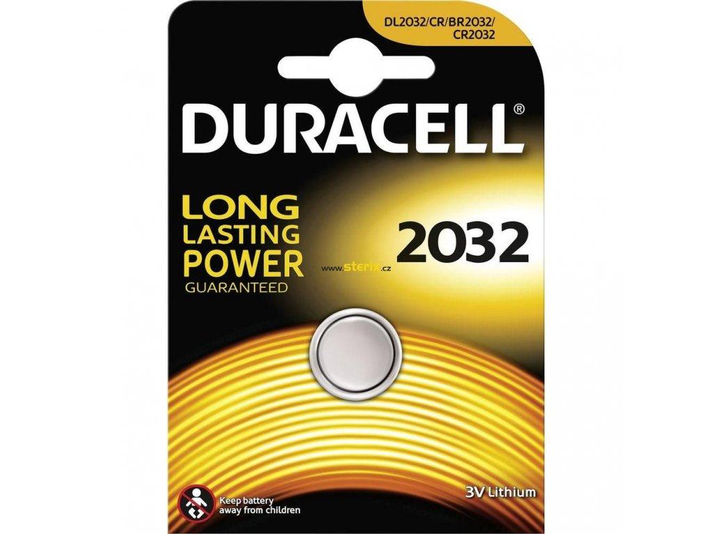 Baterie 3V CR2032 DURACELL 1ks (blistr)