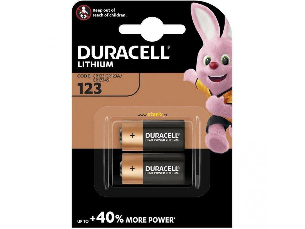 Baterie 3V CR123 DURACELL High Power Lithium 2ks (blistr)