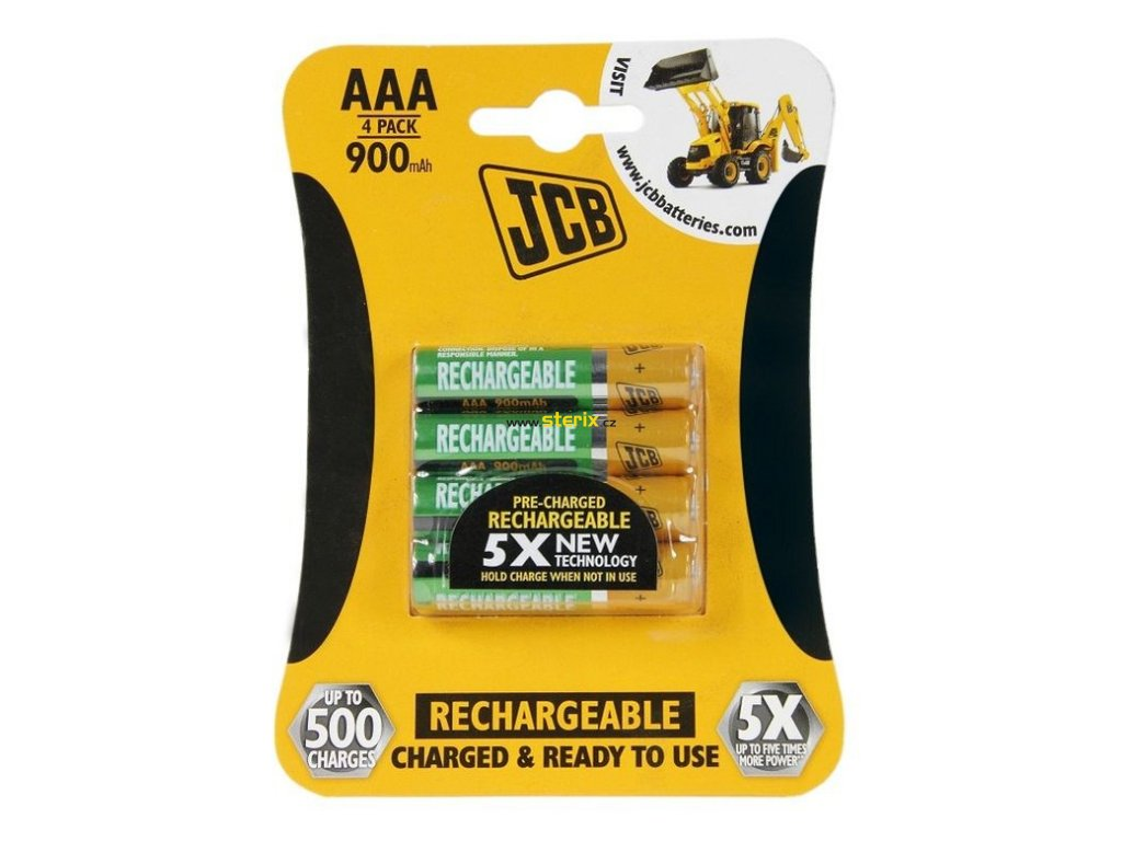 Baterie AAA/HR03 900mAh JCB RTU 4ks (blistr)