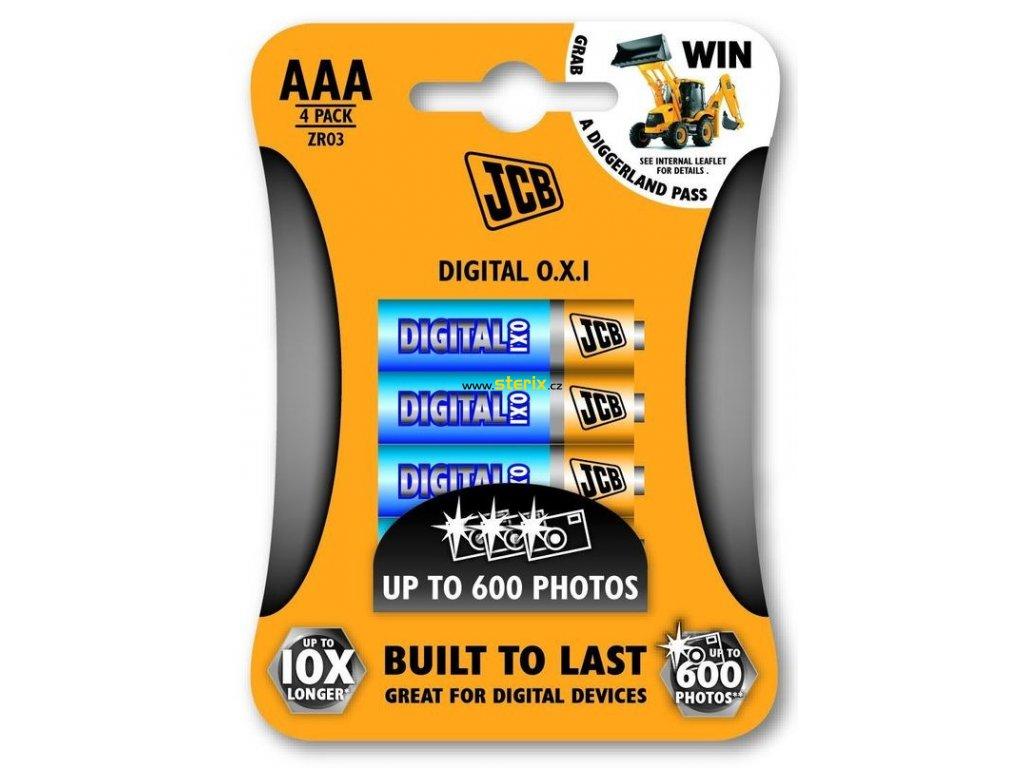 Baterie AAA/LR03 JCB OXI DIGITAL 4ks (blistr)