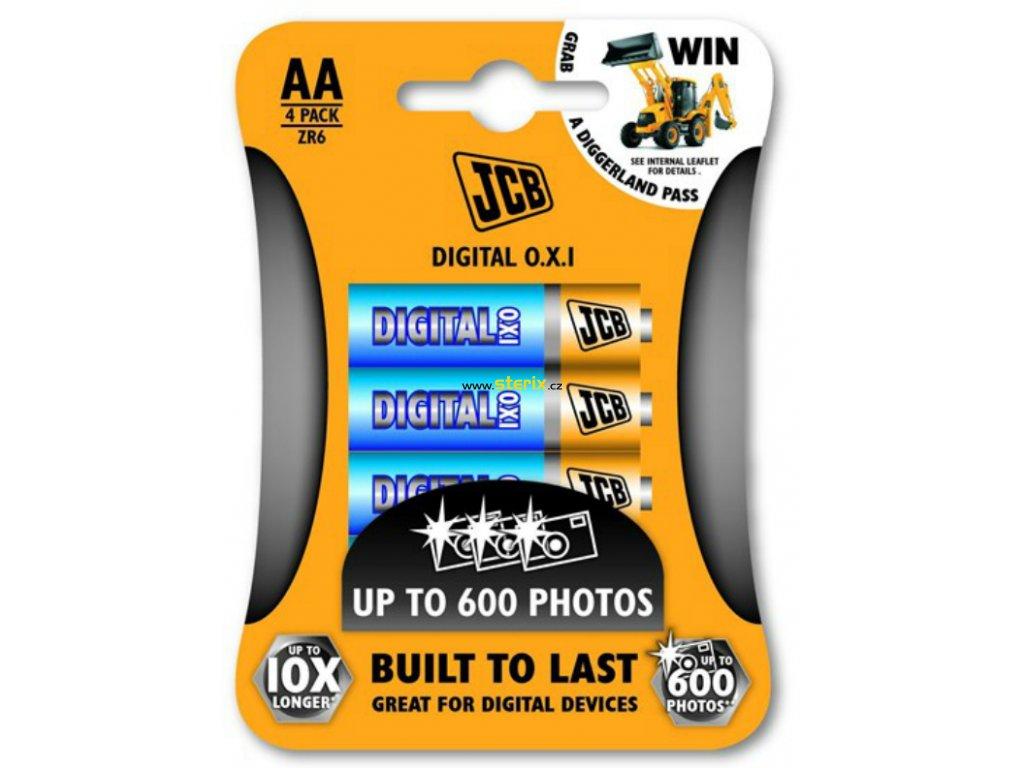 Baterie AA/LR6 JCB OXI DITAL 4ks (blistr)