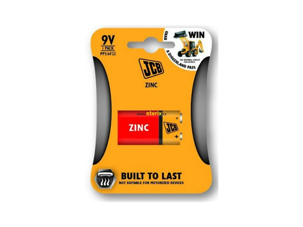 Baterie 9V JCB 1ks (blistr)