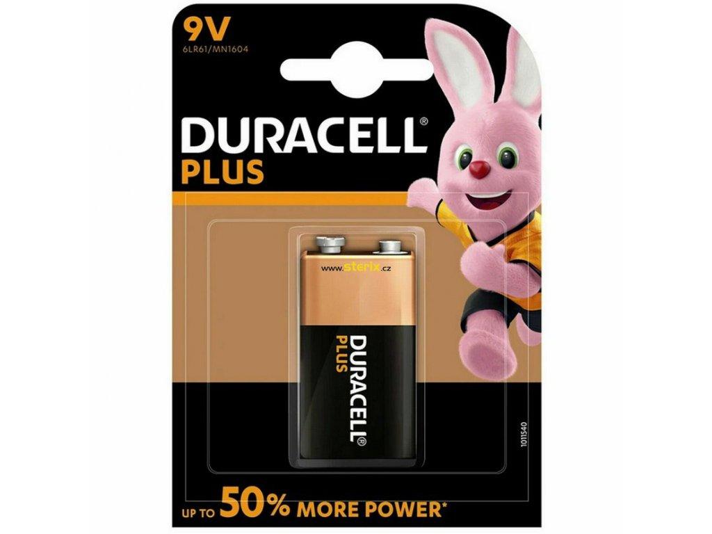 Baterie 9V Duracell PLUS POWER 1ks (blistr)