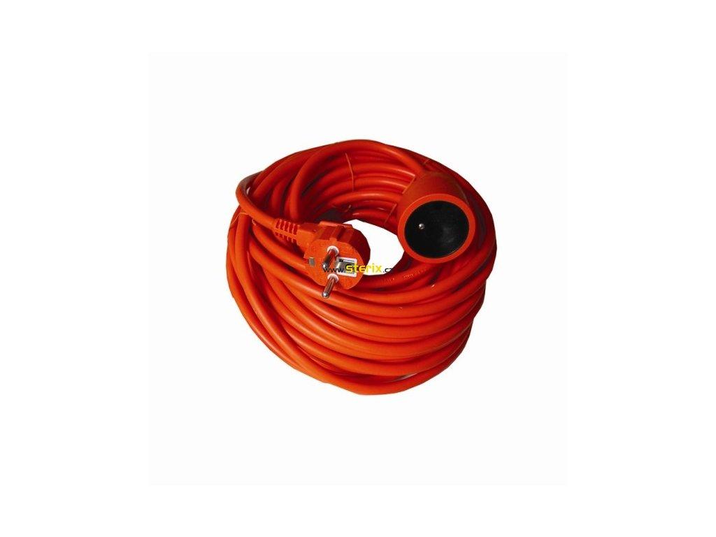 Prodlužovací kabel 230V/10A - 20m, 1 zásuvka, 3 x 1.5mm, IP20, oranžový
