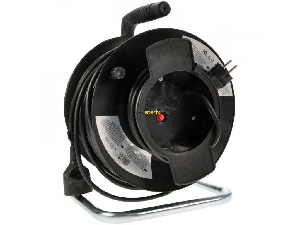 Prodlužovací kabel na bubnu PB12 - 1 zásuvka, 50m, 3 x 1,5mm, IP20, černý