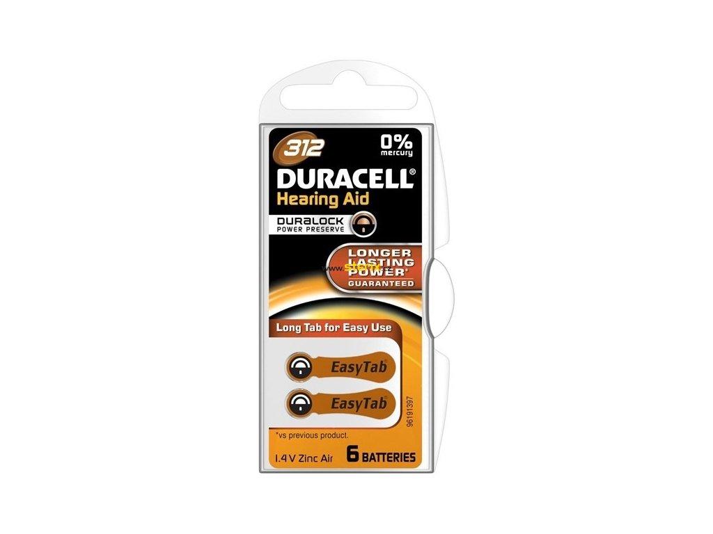 Baterie 312 DURACELL 6ks (blistr)