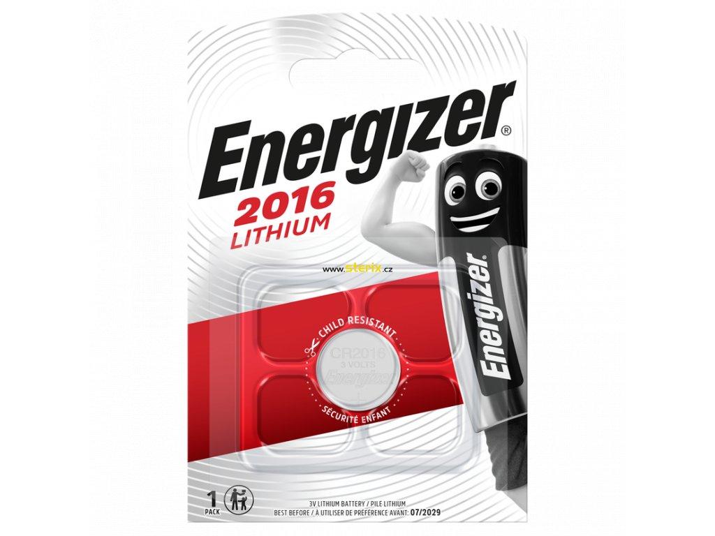Baterie 3V CR2016 ENERGIZER 1ks (blistr)