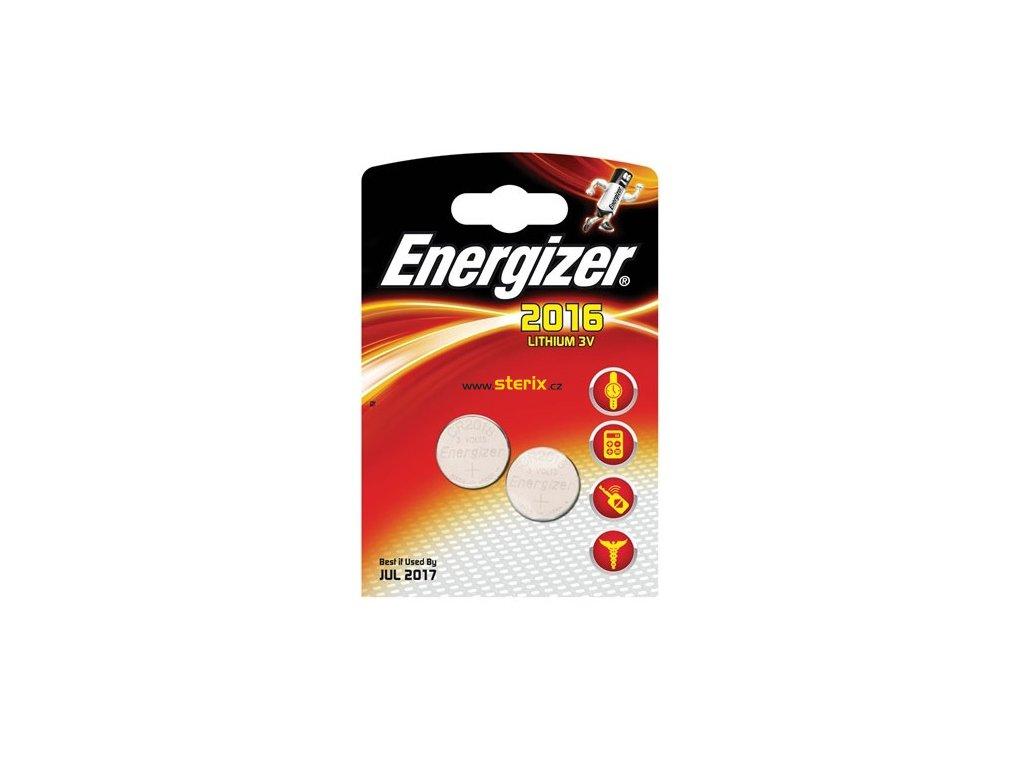 Baterie 3V CR2016 ENERGIZER 2ks (blistr)