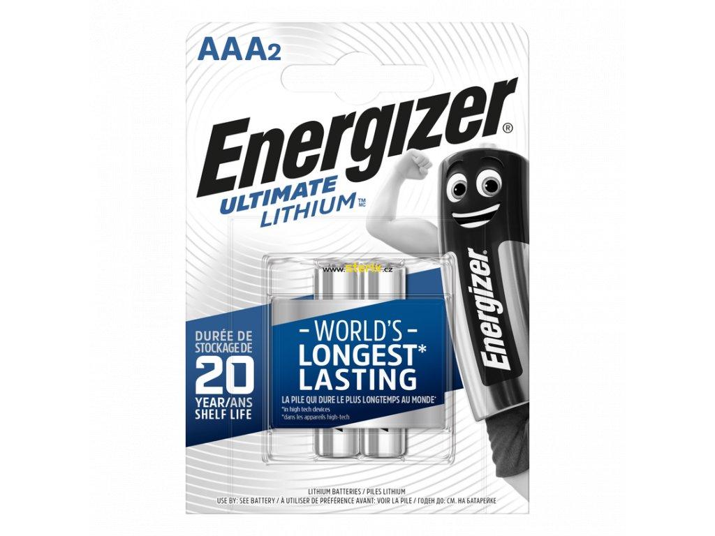 Baterie AAA/FR03 ENERGIZER Ultimate LITHIUM L92 2ks (blistr)