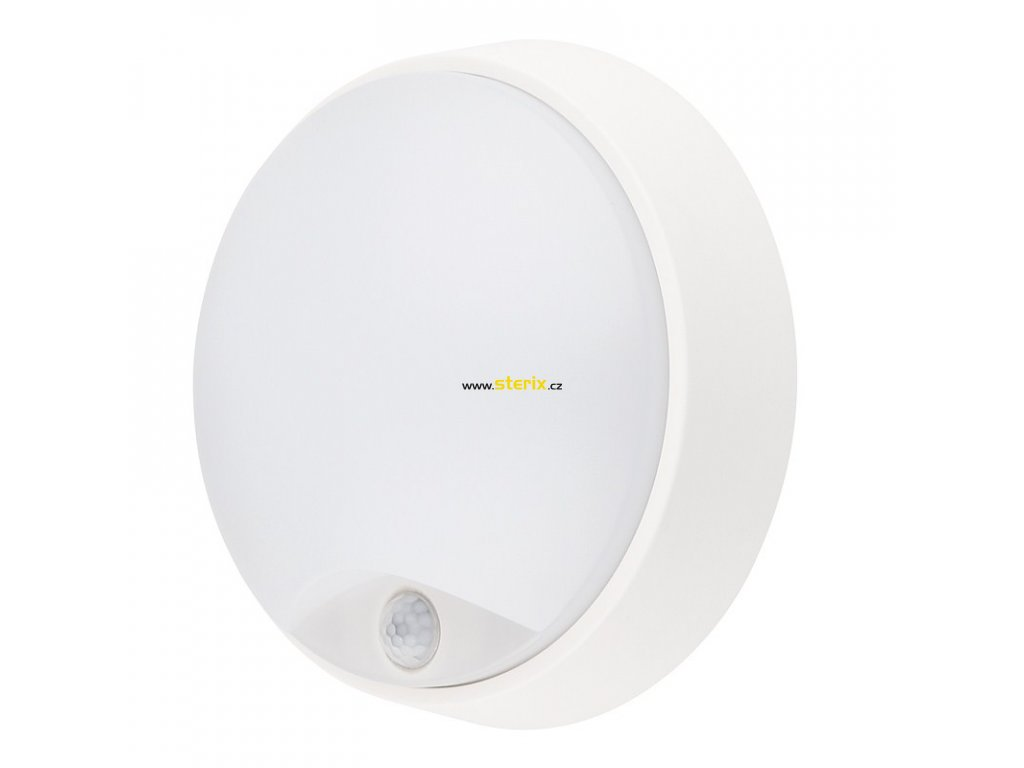 LED přisazené svítidlo se senzorem 14W/230V/1000Lm/4000K/IP54. kruhové bílé