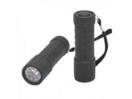 LED ruční svítilna 50Lm na 3 x AAA baterie, černá