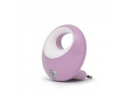 LED noční lampička 1W/230V se světelným senzorem, fialové světlo
