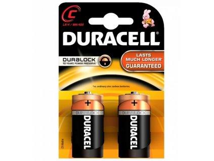 Duracell Alkaline Duralock 1,5V typ C/LR14 2ks (blistr)