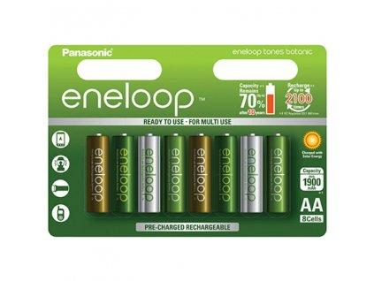 Baterie AA/HR6 1900mAh PANASONIC ENELOOP BOTANIC, 8 ks (blistr)