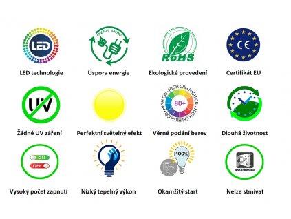 SMD LED Reflektor PAR36 10W/12V/3000K/830Lm/120°/Kabelový přívod/A+