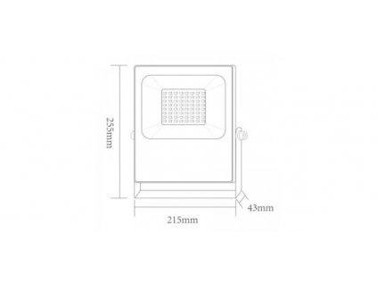 LED venkovní slim reflektor Q 100W/230V/RGB+6000K/9000Lm/110°/IP66, černý
