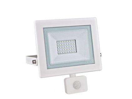 LED venkovní reflektor X 30W/230V/6000K/2660Lm/120°/IP66, pohybový senzor, bílý
