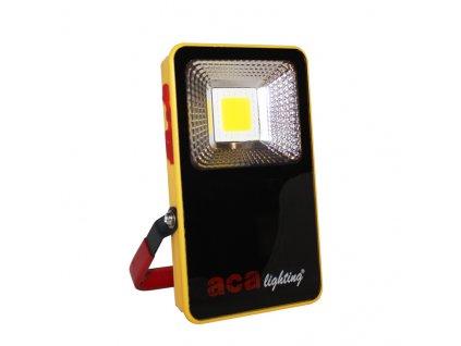 LED přenosný nabíjecí reflektor 10W/4000K+SOS/1000Lm/IP54, 3x Li-ion 3,7V/1,5Ah