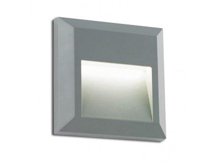 LED přisazené svítidlo SLIM 1,2W/230V/3000K/80Lm/55°/IP65/IK08, šedé