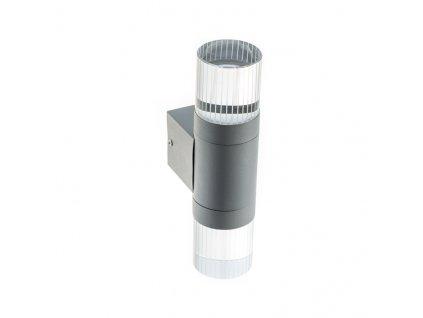 LED nástěnné svítidlo CLETO 4W/230V/3000K/180Lm/120°/IP44, šedé