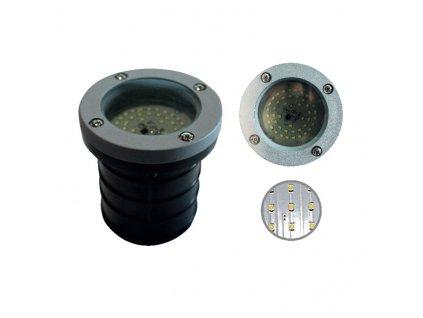 LED zahradní zemní svítidlo BREA 2,6W/230V/3000K/205Lm/120°/IP65, kruhové