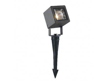 LED zahradní zemní svítidlo MALB 7W/230V/3000K/491Lm/48°/IP65, šedé