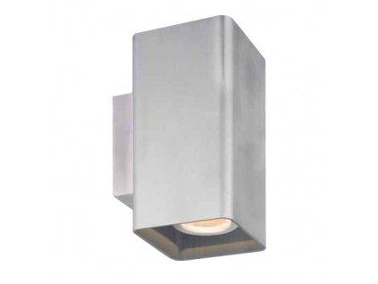 LED venkovní nástěnné svítidlo EXTRUS 14W/230V/3000K/677Lm/2x37°/IP54, barva niklu