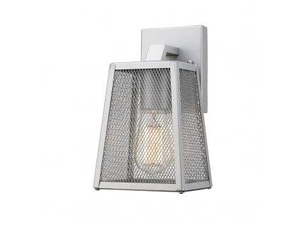 Venkovní nástěnné svítidlo NYX max. 60W/E27/230V/IP44, stříbrné