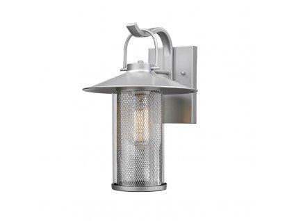 Venkovní nástěnné svítidlo ROSSA max. 60W/E27/230V/IP44, stříbrné
