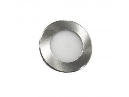 SMD LED bodovka FURN 2W/230V/6000K/150Lm/IP44/120°, matný nikl