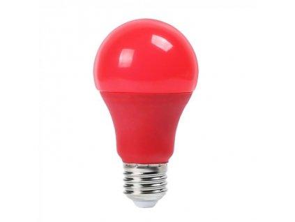 SMD LED žárovka A60 červená 9W/230V/E27/RED/270Lm/200°/A+