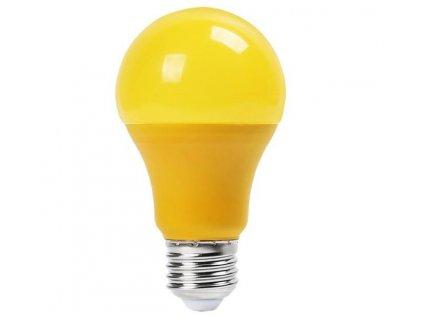 SMD LED žárovka A60 žlutá 9W/230V/E27/YELLOW/270Lm/200°/A+