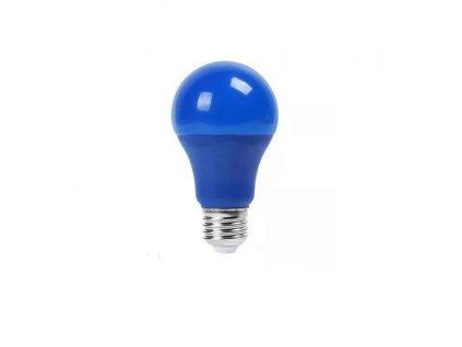 SMD LED žárovka A60 modrá 9W/230V/E27/BLUE/270Lm/200°/A+