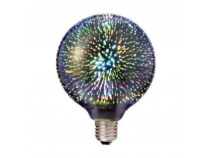 LED Filament žárovka Globe G125 Special 3D 3W/230V/E27/3000K/40Lm/300°/B