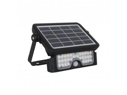 LED solární reflektor 5W/Li-3,7V-3Ah/4000K/500Lm/IP65/90°, pohybový senzor, černý